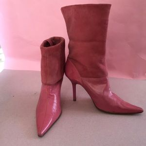 Vintage pink Guess by Marciano leather booties